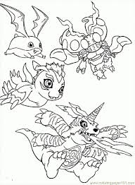 main digimon season 1 coloring japanese anime