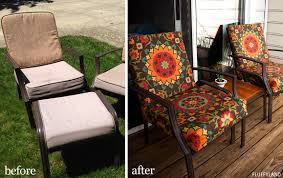 Recover Patio Chairs Recovered Patio Chair Cushions Fluffyland Craft Sewing