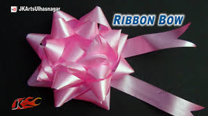 diy easy bow for a gift or christmas tree how to make jk arts