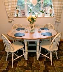 Oval Dining Table With Leaves Beautiful Shabby Chic Oval Oak Drop Leaf Dining Table And 4 Chairs