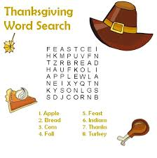 printable thanksgiving word search coloringpagebook