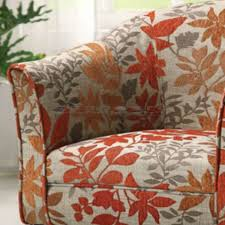 Barrel Accent Chair Coaster Orange Leaf Print Barrel Accent Chair 460407