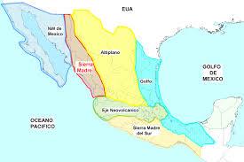 regions of mexico map mining regions gambusino prospector brilliant of mexico map and
