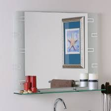 Framed Bathroom Mirrors by Shop Decor Wonderland 31 5 In X 23 6 In Rectangular Framed