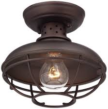 Outdoor Ceiling Lighting by Franklin Park Metal Cage 8 1 2