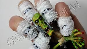 3 d halloween wallpaper 3d halloween nail art mummy dressed up nails youtube