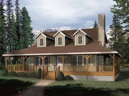 collection one story wrap around porch house plans photos home