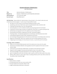 Activity Director Resume Samples by Assistant Director Resume Resume For Your Job Application
