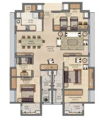 3 floor plan 1 2 bhk floor plan lodha amara thane