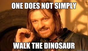 Walk The Dinosaur Meme - i have always assumed the dinosaur was a dance boing boing