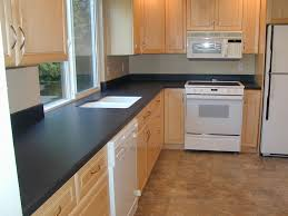 Brown And White Kitchen Cabinets Kitchen Concrete Black Kitchen Countertops Ideas With L Shape