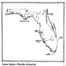 Map Of East Coast Florida by Estuaries