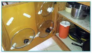 Pots And Pans Cabinet Rack Kitchen Cabinet Door Pot And Pan Lid Rack Organizer
