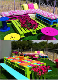 creative decorations with recycled items to turn your backyard
