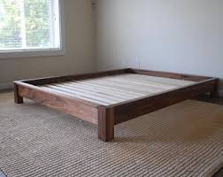 Low Profile Bed Frame King Low Profile Bed Etsy