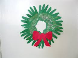 handprint christmas wreaths live learn love eat