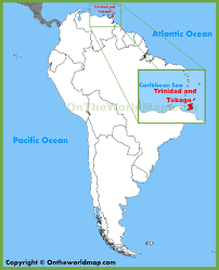 Caribbean Ocean Map by Trinidad And Tobago Maps Maps Of Trinidad And Tobago