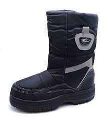 mens black warm winter zip up snow ski ice rain walking boots