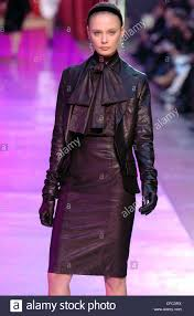 leather blouse lanvin ready to wear autumn winter black leather skirt suit