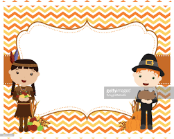 thanksgiving chevron pilgrim indian background vector getty