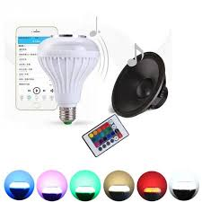 bluetooth music light bulb e27 bulb rc colorful led l bluetooth speaker portable rgb led