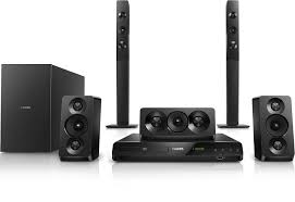 best home theater with wireless rear speakers philips htd5550 94 home theatre amazon in electronics