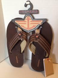 dockers boys flip flops brown size large 2 3 retails ebay