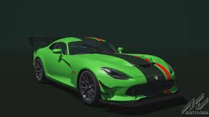 Dodge Viper Green - dodge viper acr 2016 dodge car detail assetto corsa database