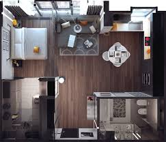 Interior Design Ideas 1 Room Kitchen Flat Artists Young Professionals And Just Those People Who Want A