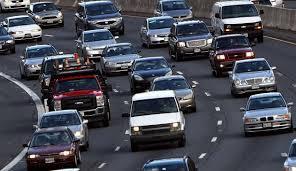 see a traffic jam near yellowstone national park