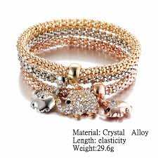 bracelet color crystal images New 3pcs tri color crystal charm bracelet flirty trends jpg