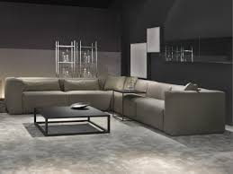 living room contemporary modular sofa furniture with grey fabric