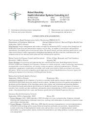 Project Manager Resume Objective Health Informatics Resume Objectives Sidemcicek Com