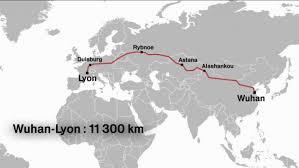 Hk Rhône Alpes à Vénissieux 11 300 Km Entre Wuhan Et Lyon Une Nouvelle Route Ferroviaire S