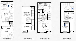 Mattamy Floor Plans by Heron Park Freehold Townhomes Scarborough