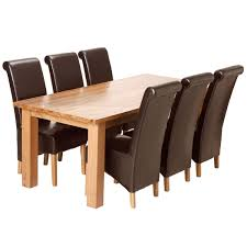 chair cream dining room sets chunky 5ft solid oak table 6 braced