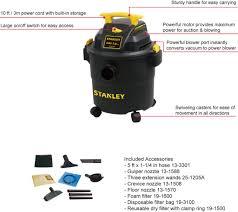 Floor Blower by Sl18115p Stanley Wet Dry Vacuum 5 Gallon 4 0 Peak Hp U2013 Alton