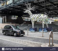 silver reindeer at outside exchange house