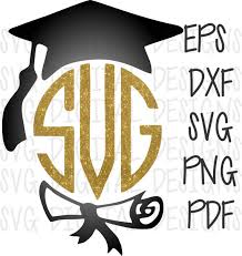 monogram graduation cap graduation cap monogram frame design electronic die cut clipart