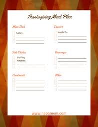 thanksgiving thanksgiving menu template remarkable dinner free