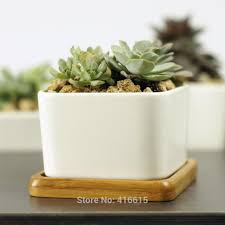 Cute Flower Pots by Aliexpress Com Buy Simple White Square Large Ceramic Flower Pots
