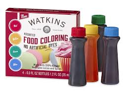 watkins assorted food coloring 0 3 oz bottles 4 ct jet com