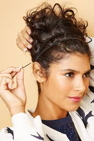 hairstyles for foreheads that stick out on a woman curly hairstyles spring diy looks headband curls