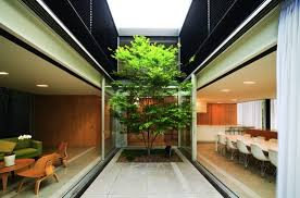 inner courtyard inspired by traditional chinese courtyard plan