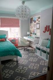 teen u0027s room gray striped walls black and white bedding