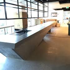 Concrete Reception Desk Brookfield Multiplex Concrete Cantilever Counter Installation