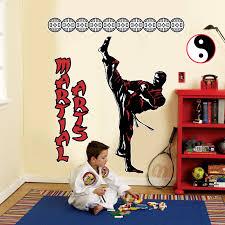 karate room decor karate room decor martial arts giant wall decals at birthdayexpress com