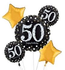 50th birthday balloon bouquets sparkling celebration 50th birthday balloon bouquet 5 pcs