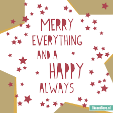 toffe kerst quote merry everything and a happy always i feel