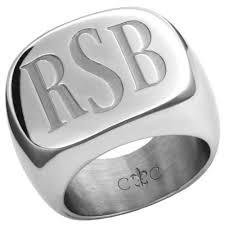 mens monogram ring mymonogram legacy signet ring